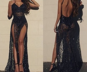 dress, beautiful, and black image