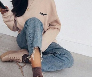 beige, girl, and shoes image