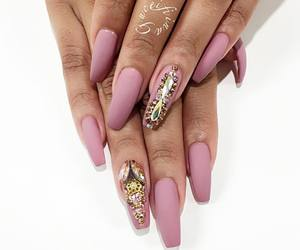 bling, pink, and gold image