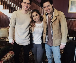 cole sprouse, kj apa, and fan image