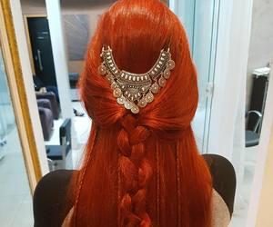color hair, hair, and long hair image