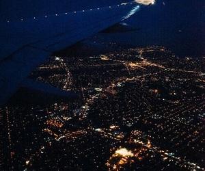 night, travel, and light image