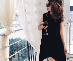 brunette, indie, and wine image