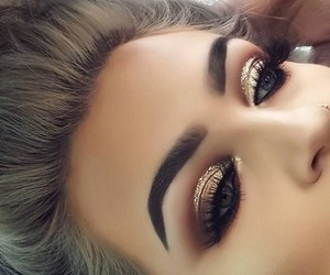 beautiful eyes, girls eyes, and eye makeup image