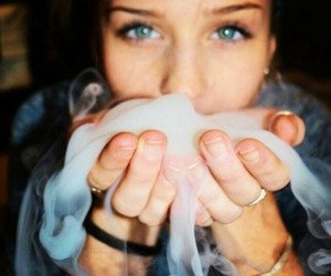 smoke, girl, and weed image