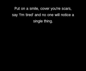 depression, scars, and smile image