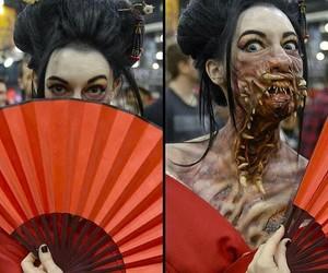 asian, geisha, and Halloween image