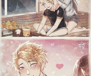 mystic messenger, couple, and Mc image