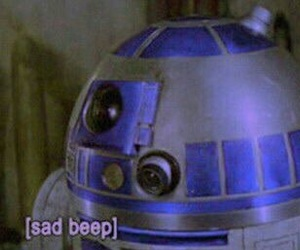 star wars, sad, and r2d2 image