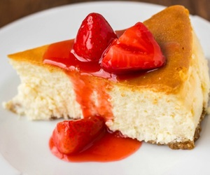 berries, berry, and cheesecake image