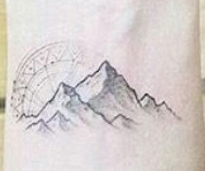 mountains, tattoo, and wrist image