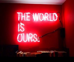 neon, quotes, and red image