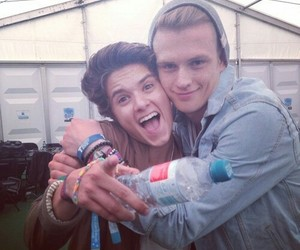tradley, the vamps, and tristan evans image