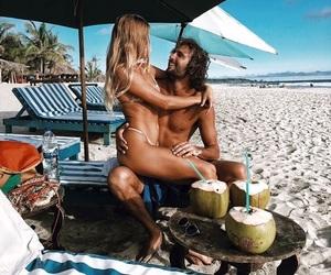 beach, couple, and wild image