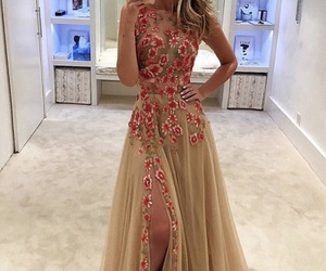dress, flowers, and style image