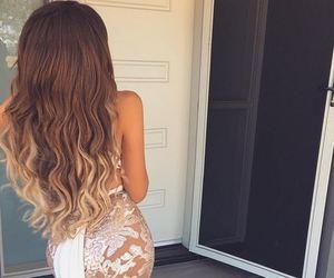 beauty, lace, and dress image