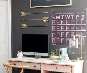 decor, desk, and inspiration image