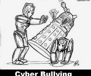 doctor who, funny, and cyber man image