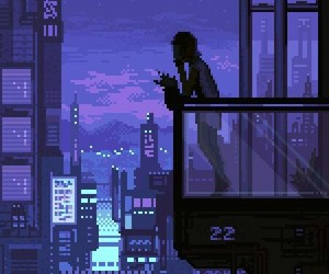 pixel, gif, and night image