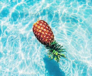 ananas and blue image