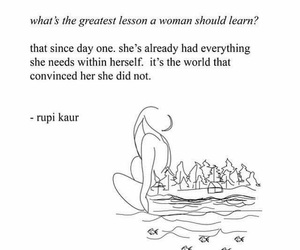 quotes, woman, and rupi kaur image