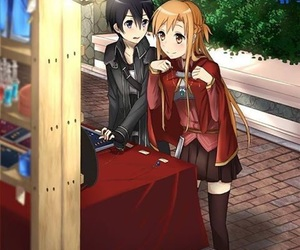 anime couples, asuna, and sword art online image