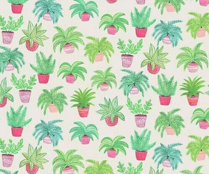 pattern, plants, and cute image