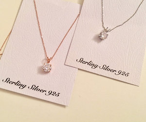 etsy, silver necklaces, and bridesmaid necklace image
