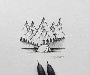 art, black & white, and draw image