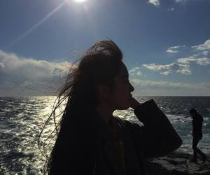 girl, quote, and sea image
