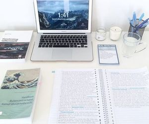 study, school, and white image