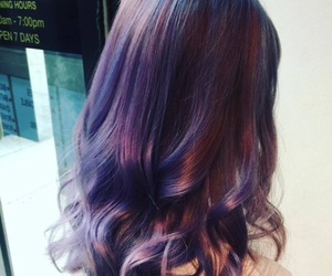 hair, purple, and curls image