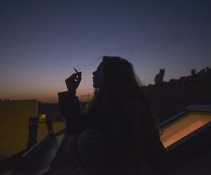 girl, smoke, and tumblr image