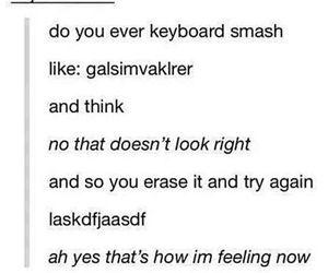 keyboard, smash, and funny tumblr post image
