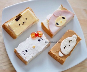 food, hello kitty, and my melody image