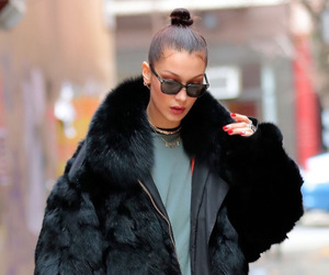 bella hadid, model, and street style image