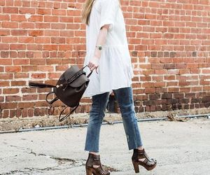 backpack, beautiful, and fashion image