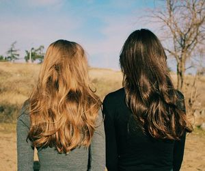 hair, aesthetic, and friends image