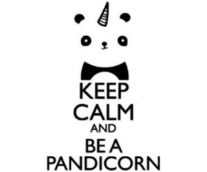 panda, pandicorn, and unicorn image