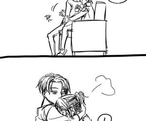 anime couples, shingeki no kyojin, and anime comic image
