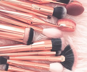 Brushes, beauty, and cosmetics image