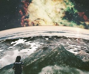 art, Collage, and universe image