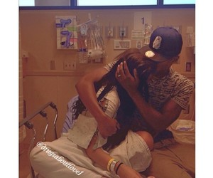 bed, couple, and hospital image