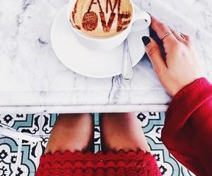 coffee, beauty, and fashion image