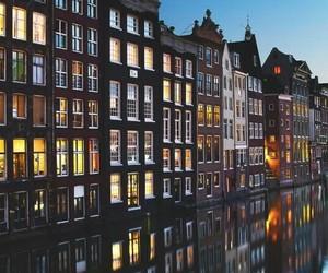 amsterdam, night, and city image