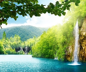 natuur, waterval, and picture image