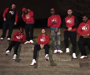 black, gang, and red image