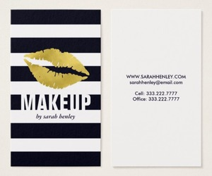 cute, business cards, and glam image