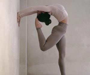 girl, love, and yoga image