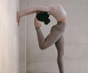 girl, yoga, and love image